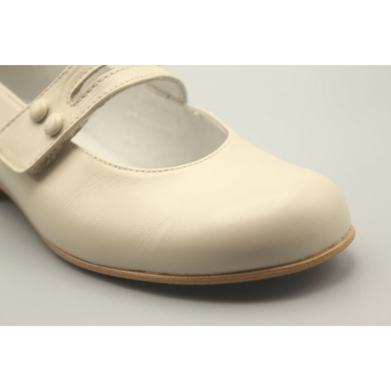 Mary Jane Shoes Button Leather 24-30