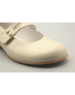 Mary Jane Shoes Button Leather 31-40