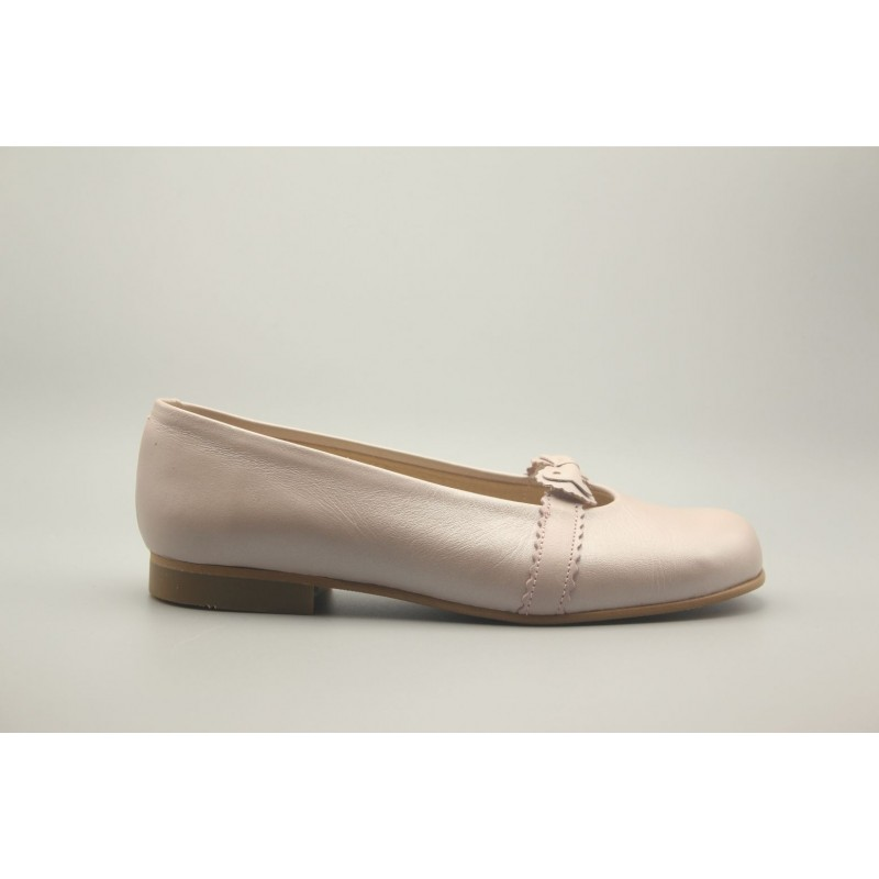 Pearly Leather Bow Biscuit Shoe 31-40