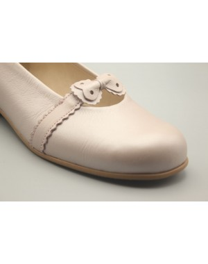 Pearly Leather Bow Biscuit Shoe 24-30