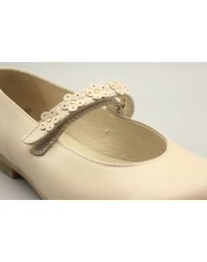 Zapato Mercedita Flores Piel 31-40