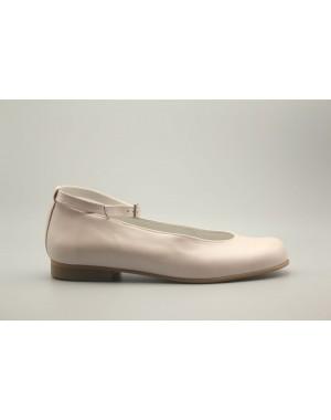 Zapato Bailarina Pulsera Piel Nacarada 31-40