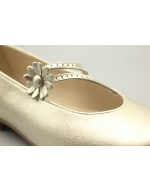 Mary Jane Shoes Big Flower Leather 31-40