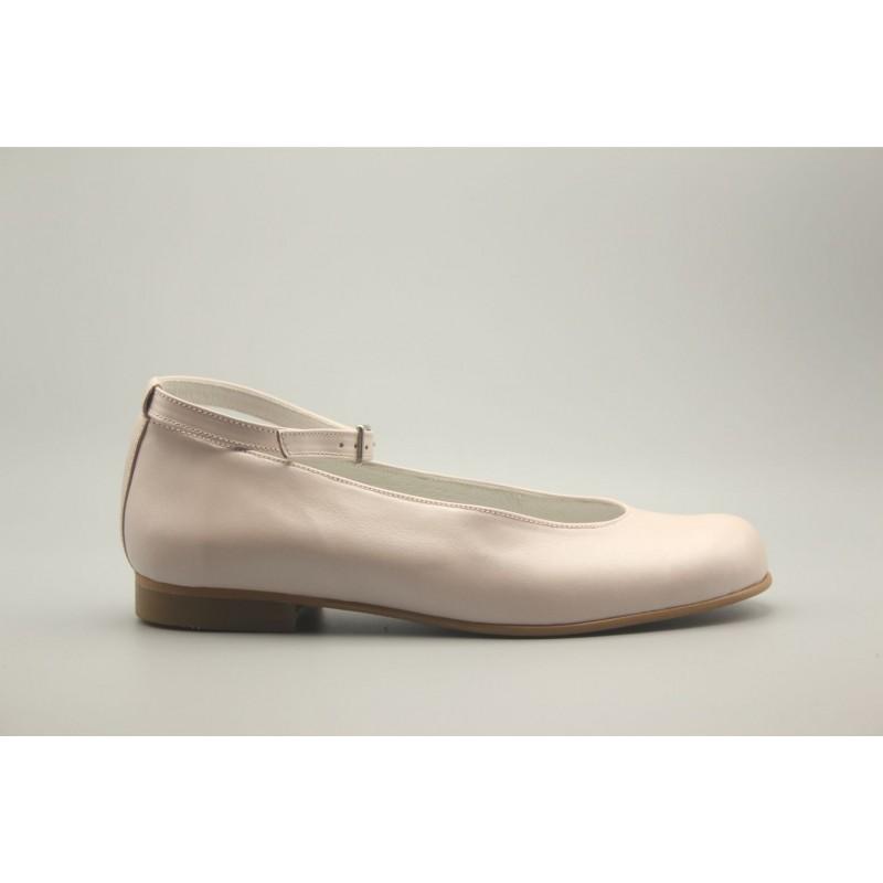 Zapato Bailarina Pulsera Piel Nacarada 24-30