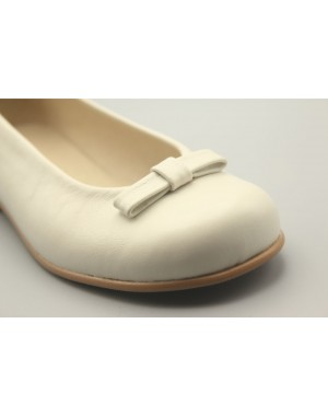 Flat Shoes with little Bow Leather 31-40